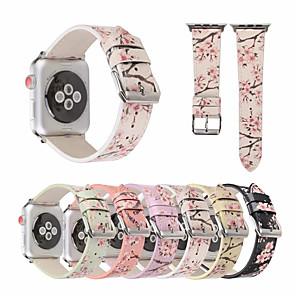 ieftine Lasere-buzunar din piele din piele de prune pentru banda de ceas de mere 44mm / 40mm / 38mm / 42mm brățară de flori pentru seria iwatch 1 2 3 4 accesorii