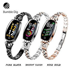 Недорогие Ремешки для Apple Watch-Жен. электронные часы На открытом воздухе Черный Серебристый металл Золотистый сплав Цифровой Черный Золотой Серебряный Защита от влаги Bluetooth Smart 1 ед. Цифровой / Календарь