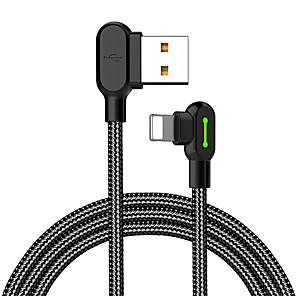 povoljno Muške majice i potkošulje-Rasvjeta Kabel 1.8M (6ft) U obliku pletenice / Brzo punjenje Najlon USB kabelski adapter Za iPhone