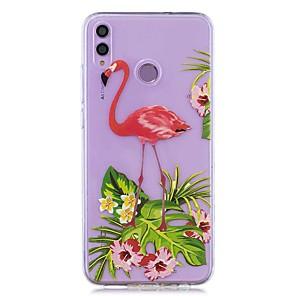 ieftine Stick Tripod Selfie-caz pentru huawei onoare 8x / huawei p smart (2019) model / transparent transparent capac floare flamingo soft tpu pentru mate20 lite / mate10 lite / y6 (2018) / p20 lite / nova 3i / p smart / p20 pro