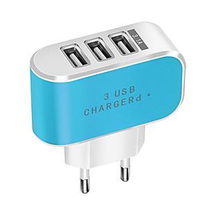 ieftine Cabluri de Adaptor AC & Curent-bomboane de culoare 3 usb încărcător de călătorie încărcător de perete adaptor inteligent telefon mobil încărcător de alimentare pentru tablete