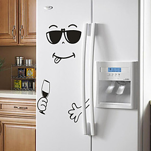 ieftine Gadget Baie-noi 4 stiluri zâmbet fata perete autocolant fericit delicios fata frigider autocolante yummy pentru mobilier alimentar decoratiuni art poster diy pvc