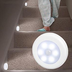 povoljno LED noćna rasvjeta-4pcs lanyard hokej indukcija svjetlo slobodan ugradnja magnetska pasta kat kabinet okrugli svjetlo kontrole oko hranjenja noćno svjetlo