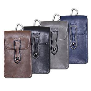 Недорогие Чехол Samsung-6-дюймовый чехол для универсального держателя карты талии сумка / талия сплошной цвет мягкая искусственная кожа