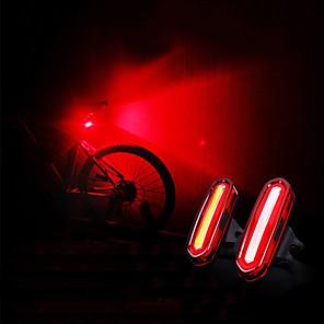 ieftine Lumini de Bicicletă-LED Lumini de Bicicletă Iluminat Bicicletă Spate lumini de securitate Ciclism montan Bicicletă Ciclism Rezistent la apă Portabil USB Atenţie USB 120 lm Reîncărcabil USD Camping / Cățărare / Speologie
