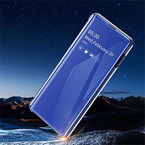 povoljno Maske/futrole za Galaxy S seriju-Θήκη Za Samsung Galaxy Galaxy S10 / Galaxy S10 Plus / Galaxy S10 E sa stalkom / Pozlata / Zrcalo Korice Jednobojni Tvrdo PU koža