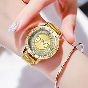 ieftine Cuarț ceasuri-Pentru femei Quartz Quartz Stl Oțel inoxidabil Argint / Auriu 30 m Rezistent la Apă Draguț Ceas Casual Analog Casual Modă - Auriu Argintiu Un an Durată de Viaţă Baterie