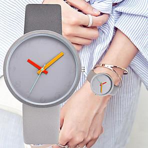 ieftine Ceasuri Damă-Pentru femei Quartz Quartz Stl Strălucire Silicon Negru / Albastru / Gri 30 m Cronograf Draguț Creative Analog Modă minimalist - Roz Îmbujorat Gri Piersică Doi ani Durată de Viaţă Baterie