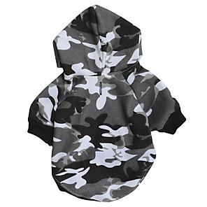 ieftine Imbracaminte & Accesorii Căței-Câini Hanorace cu Glugă Hanorca Îmbrăcăminte Câini Negru Costume Dalmațian Corgi Beagle Material Textil Lână Culoare Camuflaj stil minimalist Casual / sportiv XS S M L