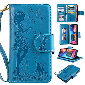 cheap Apple Watch Bands-Case For Samsung Galaxy A6 (2018) / A6+ (2018) / A3(2017) Wallet / Card Holder / with Stand Full Body Cases Cat / Sexy Lady Hard PU Leather