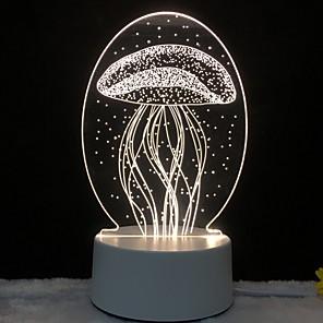 ieftine Colier la Modă-3d led lumina lumina meduză bufnita noapte lightcat unicorn lampă turn Eiffel pentru dormitorul copiilor