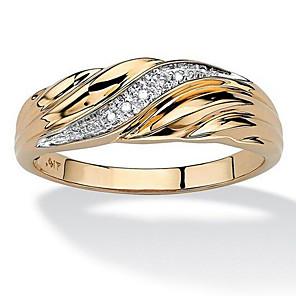 ieftine Colier la Modă-Bărbați Band Ring 1 buc Auriu Argintiu Articole de ceramică Ștras Placat Auriu Geometric Shape Design Unic Modă Zilnic Muncă Bijuterii Clasic Prețios Cool