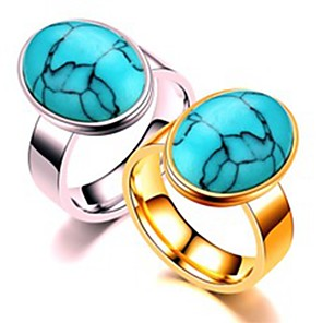 ieftine Inele-Pentru cupluri Inele Cuplu Inel 1 buc Auriu Argintiu Teak Circular De Bază Modă Cadou Zilnic Bijuterii Inimă Heart