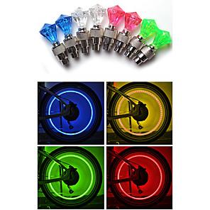 ieftine Lumini de Bicicletă-LED Lumini de Bicicletă lumini intermitente capac robinet Ciclism montan Bicicletă Ciclism Rezistent la apă Siguranță Atenţie Ușor de Instalat 10 lm AG10 Alb Roșu Albastru Ciclism