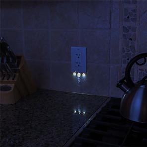 ieftine Audio & Video-LED-uri de lumină de noapte Creative Buton Acumulator alimentat 1 buc