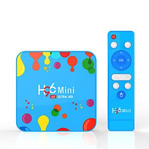 hesapli TV Kutuları-H96 max H6 Android 9.0 Allwinner H6 4GB 32GB Quad Core