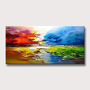 povoljno Bojano-Hang oslikana uljanim bojama Ručno oslikana - Sažetak Pejzaž Moderna Bez unutrašnje Frame