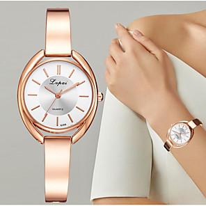 ieftine Cuarț ceasuri-Pentru femei Quartz Quartz Stil Oficial Stl Oțel inoxidabil Argint / Roz auriu Ceas Casual Analog Modă Elegant - Argintiu Roz auriu Argintiu / negru Un an Durată de Viaţă Baterie