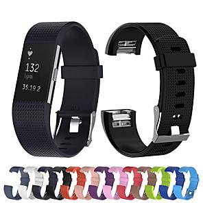 Недорогие Ремешки для спортивных часов-Ремешок для часов для Fitbit Charge 2 Fitbit Спортивный ремешок силиконовый Повязка на запястье