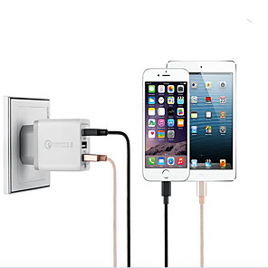 ieftine încărcător cu cablu-încărcător rapid portabil 3.0 9v / 12v încărcător USB cu 3 porturi