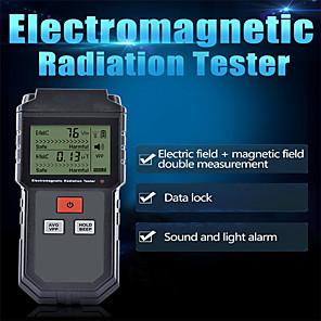 ieftine Testere & Detectoare-testarea radiațiilor electromagnetice portabile digitale lcd câmp magnetic electric emf metru dozimetru detector pentru telefonul mobil