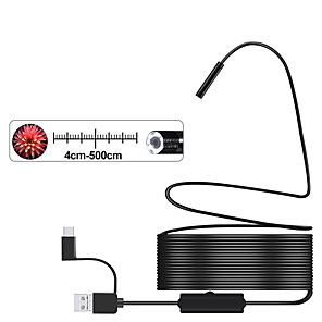 povoljno Testeri i detektori-3-u-1 polu-kruta USB endoskopska kamera 8mm ip68 vodootporna zmija kamera sa 8 leda za prozore i macbook pc android endoskop (10m duljine)