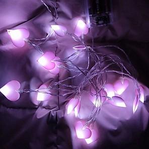 ieftine Fâșii Becurie LED-1.5m Fâșii de Iluminat 10 LED-uri 1set Alb Cald Crăciun decor de nunta Baterii AA alimentate
