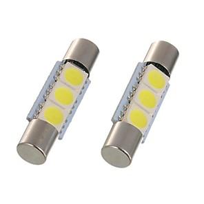 ieftine Becuri De Mașină LED-2pcs 28mm 29mm led festoon lumina c5w 6614f ts-14v1c lampa interioara masina 3 smd 5050 xenon alb pentru vanitatea oglinda lumina lumina dom lumina lumina de lectură