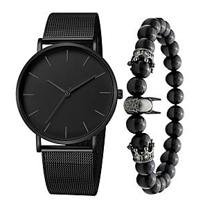 ieftine Ceasuri pt Rochii-Bărbați Ceas Elegant Quartz Stil modern Stl Casual Rezistent la Apă Oțel inoxidabil Negru / Argint / Auriu Analog - Roz auriu Negru Auriu Un an Durată de Viaţă Baterie / Mare Dial