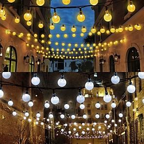 ieftine Fâșii Becurie LED-loende 8m a condus lumini solare cu șir 60 de grade curte de grădină curte decor în aer liber festival lampă solor șir de lumini în aer liber șir de conducere