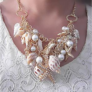 ieftine Colier la Modă-Pentru femei Coliere cu Pandativ Coliere Clasic Stea de mare Pară Boem Modă Imitație de Perle Crom Curcubeu 45 cm Coliere Bijuterii 1 buc Pentru Concediu Stradă
