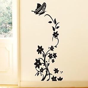 povoljno Zidni ukrasi-Cvjetni / Botanički Zid Naljepnice Zidne naljepnice Dekorativne zidne naljepnice, PVC Početna Dekoracija Zid preslikača Zid Ukras 1pc / Može se prati