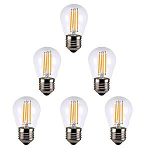 ieftine Gadget-uri & Piese Auto-6pcs 4 W Bec Filet LED 300 lm E14 E26 / E27 G45 4 LED-uri de margele Alb Cald Alb 220 V