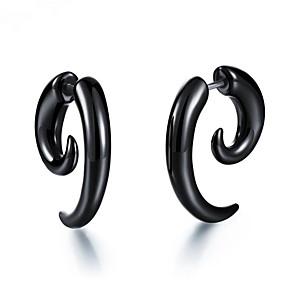 ieftine Cercei-Bărbați Pentru femei Cercei Stil Vintage Serie de totemuri Stilat cercei Bijuterii Negru Pentru Cadou Zilnic 1 Pair