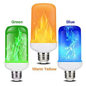 ieftine Becuri LED Glob-zdm 1 buc 7w led efect de flacără bec bec e27 pâlpâire flacără economisire de energie pentru festival halloweenchristmaspaty ac85-265v