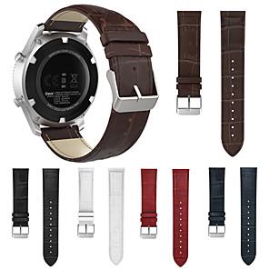 ieftine Becuri LED Corn-Bandă de ceas cu curea de mână din piele naturală pentru accesorii brățară pentru ceas garmin fenix chronos / approach s40