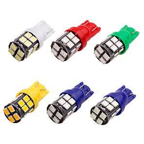 abordables Montres Homme-10pcs t10 led w5w 2835 20 smd 194 168 w5w led ampoule blanc bleu rouge vert plaque d'immatriculation lampe largeur lumières 20 led 12v