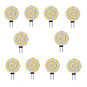 ieftine Becuri LED Bi-pin-10pcs 2 W Becuri LED Bi-pin 200 lm G4 12 LED-uri de margele SMD 5050 Alb Cald Alb 12 V
