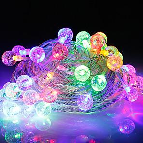 baratos Fitas e Mangueiras de LED-10m Faixas de Luzes LED Flexíveis / Cordões de Luzes 100 LEDs 1pç Branco Quente / Branco Frio Criativo / Decorativa / Decoração do casamento de Natal 220 V