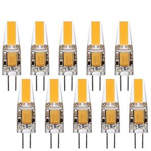 ieftine Car Signal Lights-10pcs 3 W Becuri LED Bi-pin 290 lm G4 1 LED-uri de margele COB Decorativ Încântător Alb Cald Alb Rece 12 V