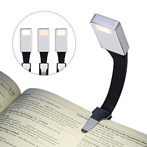 voordelige Originele LED-lampen-brelong led leeslamp usb opladen nachtlampje clip licht 3 modus aanpassing boek licht zilver