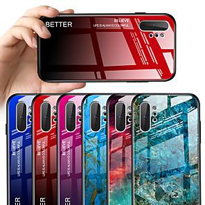 ieftine Benzi Lumină LED-Maska Pentru Samsung Galaxy Note 9 Model Capac Spate Marmură / culoare Gradient Greu Sticlă Temperată