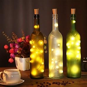 economico Strisce LED-2m bottiglia di vino luci stringa di sughero 20 led smd 0603 bianco caldo / bianco / multi colore impermeabile / partito / matrimonio / natale / halloween alimentato a batterie 1 pz