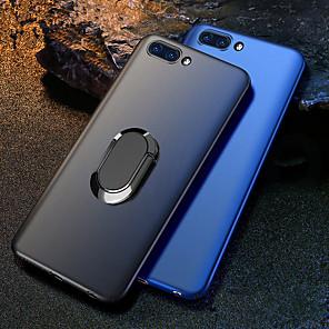 Недорогие Чехлы и кейсы для Huawei-Кейс для Назначение Huawei Huawei Honor 10 / Honor 10 Lite / Honor V20 Защита от удара / со стендом / Кольца-держатели Кейс на заднюю панель Однотонный Твердый ПК / Металл