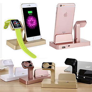 Недорогие Беспроводные зарядные устройства-док зарядное устройство часы телефон зарядка стенд абс