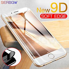 ieftine Breloc LED-nou 9d curbat acoperit de sticlă de sticlă de acoperire pentru iphone x xr xs ecran protector max pentru iphone 8 7 6 6s plus film de protecție