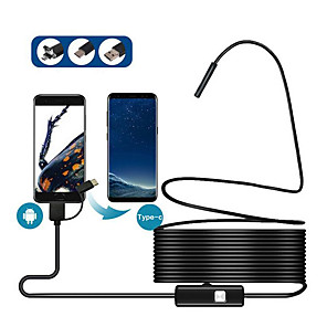 ieftine CCTV Cameras-tip-c / mirco usb android telefon mobil endoscop 5.5 mm 1 m linia moale industriale mini camera