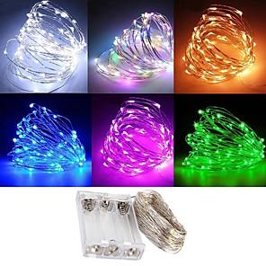 ieftine Lumini LED de Scenă-zdm rezistent la apă 3m 30 condus 3aa baterie basme lanțuri lumini de sticlă lumini de Crăciun decor de Crăciun lumini multi culoare