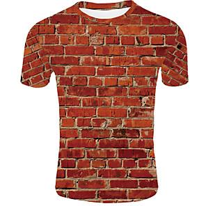 ieftine Imbracaminte & Accesorii Căței-Bărbați Rotund - Mărime EU / US Tricou De Bază - #D Portocaliu / Manșon scurt