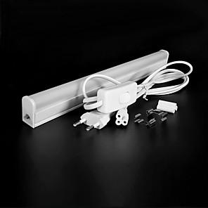 ieftine Lumini Tub LED-zdm 4pcs led t5 montaj integrat singur 1ft 5w 550lm legătura de utilitate magazin de lumină plafon și sub dulap lumina electrice cu cablu cu încuietor încorporat